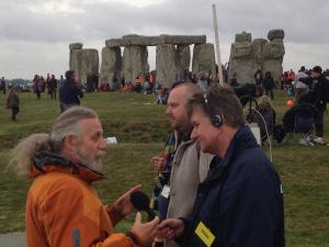 Interview at Stonehenge